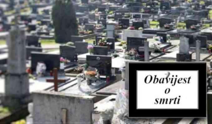 Obavijest o smrti i sprovodu
